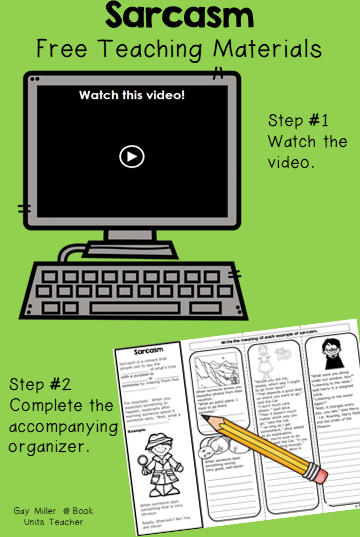 Free Mini Lesson on Sarcasm - includes a Video, Slides, and Printables
