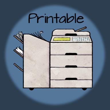 Printable Anchor Charts