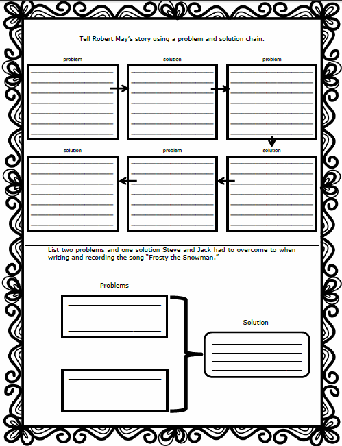 Free Problem and Solution Graphic Organizer