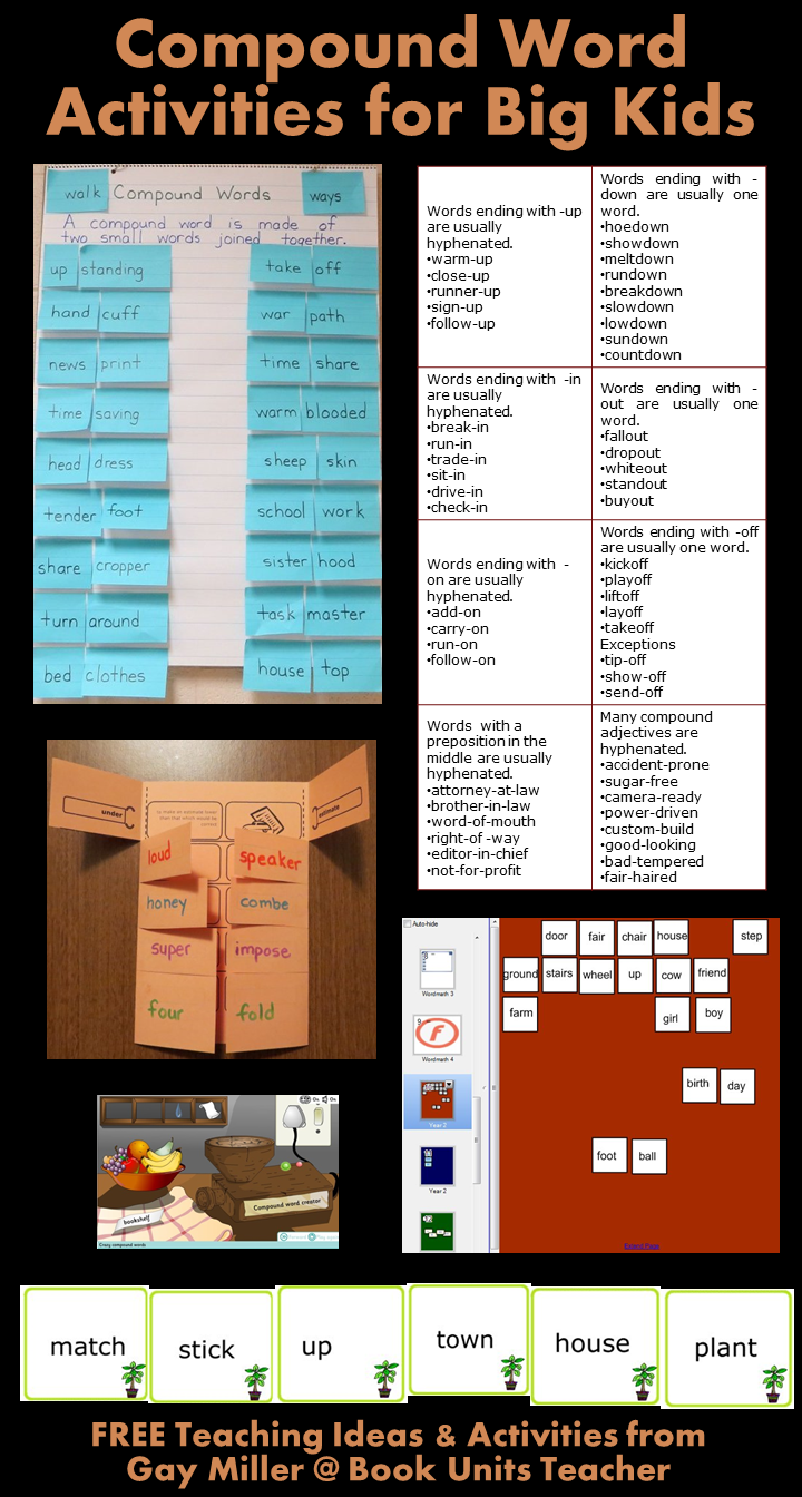 Compound Word Activities for Upper Elementary Students