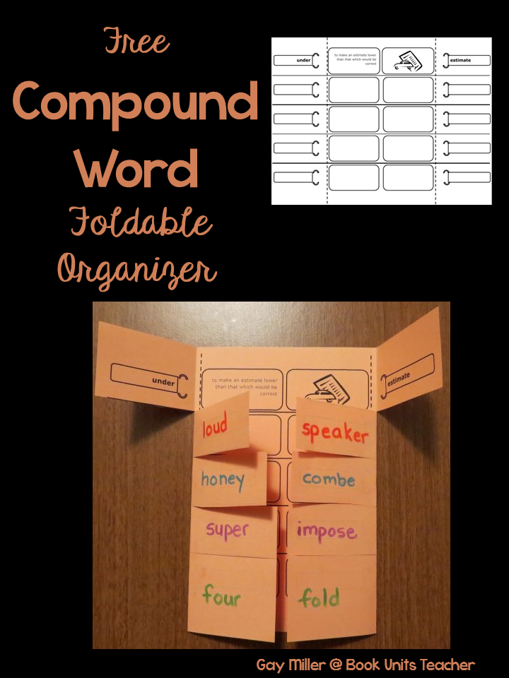 Free Compound Word Foldable Organizer