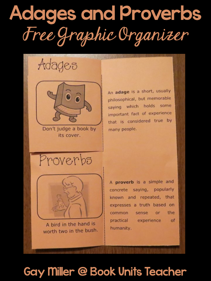 Adages and Proverbs  Free Foldable Organizer