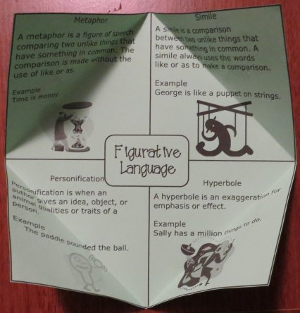 Figurative Language Free Foldable Organizer