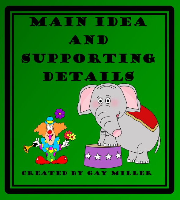 Main Idea and Supporting Details Unit on Teachers Pay Teachers