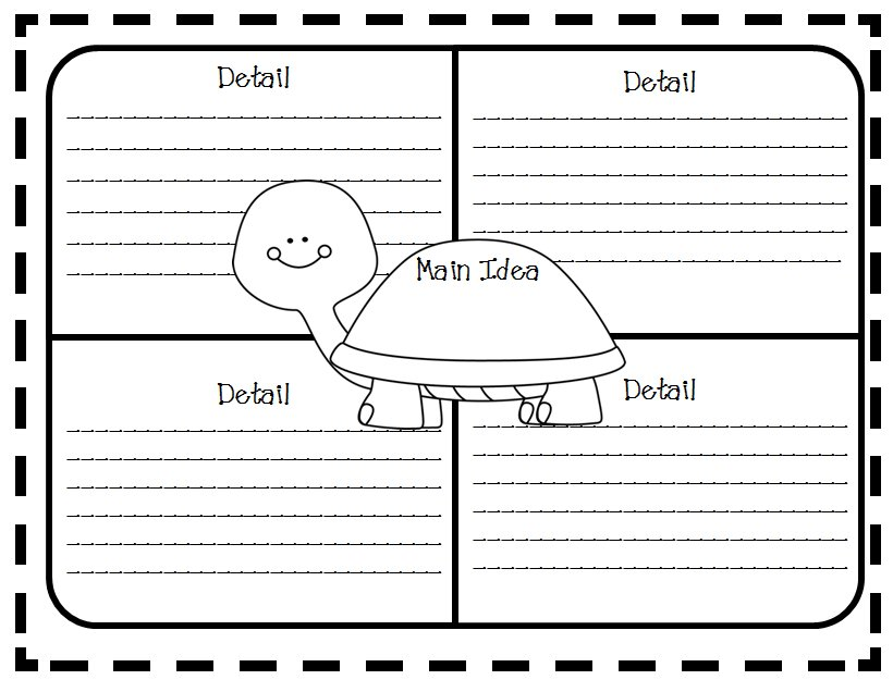 Free Printable Main Idea and Details Graphic Organizer