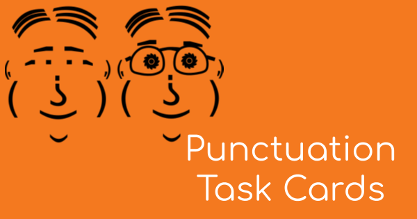 Teach students how to punctuate with these fun task cards.