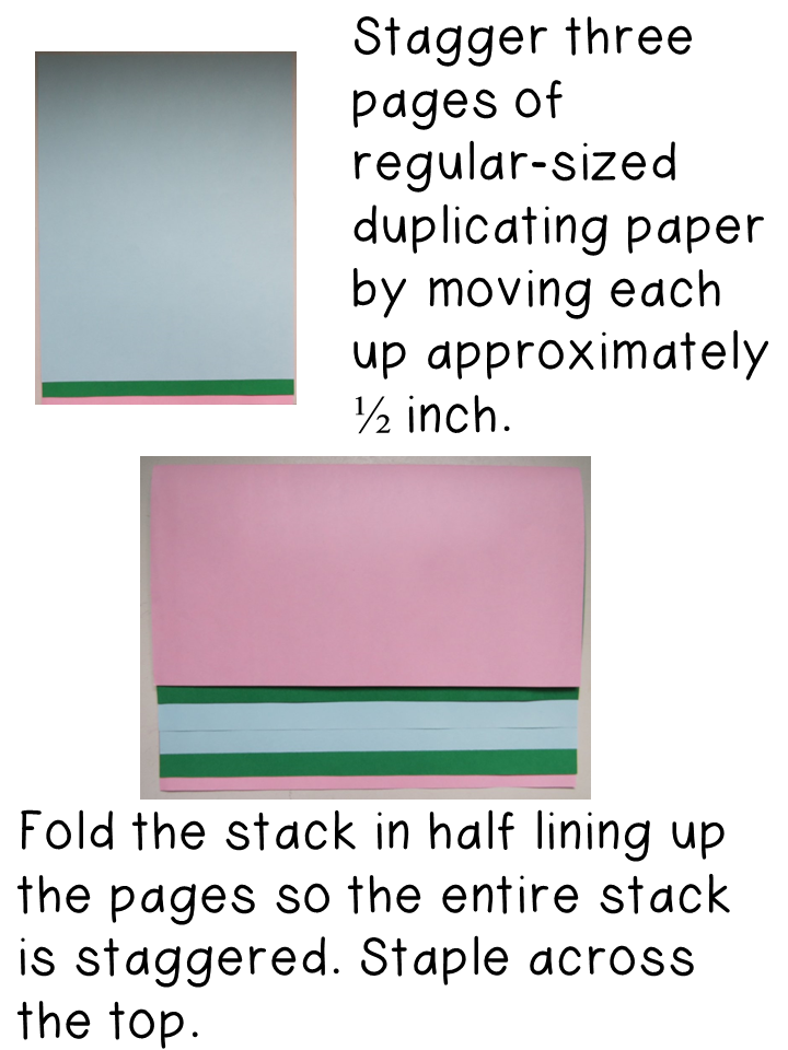 Directions for Creating a Staggered Flip Organizer