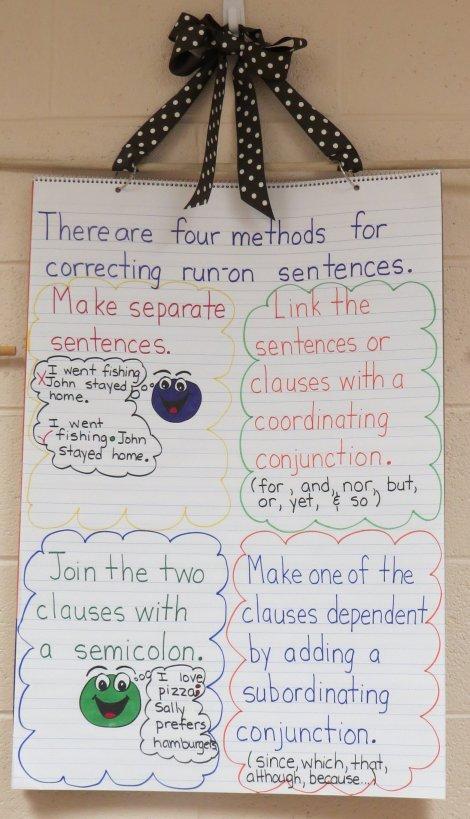 Correcting Run-On Sentences