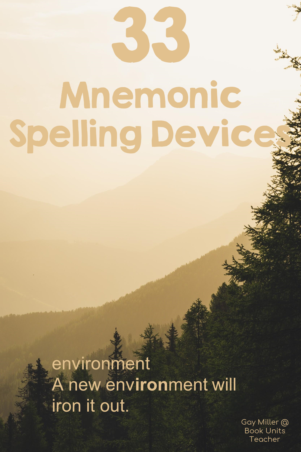 Mnemonic Devices to Help Students with Spelling