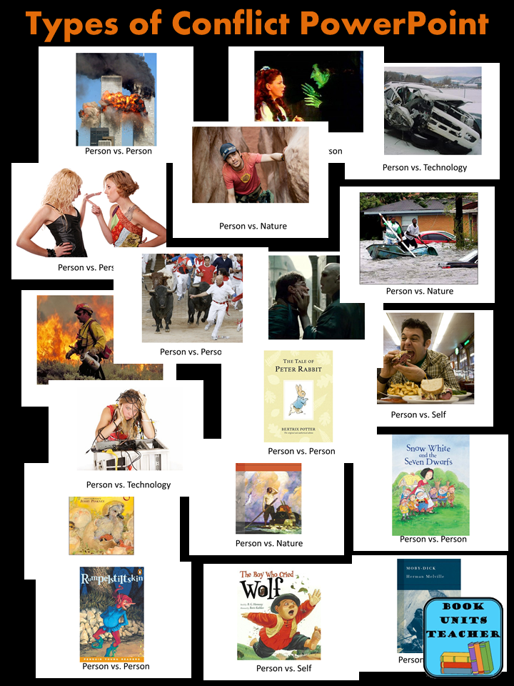 Using Movie Trailers to Teach Types of Conflict - This blog post also includes an anchor chart and free foldable organizer to teach 'Conflicts in Literature.'