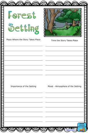 Free Forest Setting Anchor Chart
