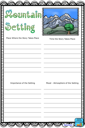 Printable Anchor Chart for Setting of a Story