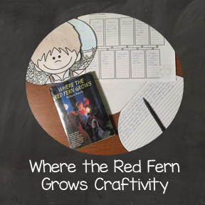 Where the Red Fern Grows Summarizing Craftivity