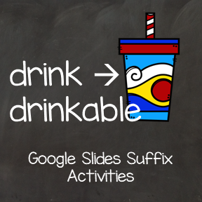 Suffix Activity for Google Slides