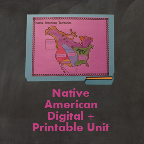 Native American Digital Unit + Printable Lapbook