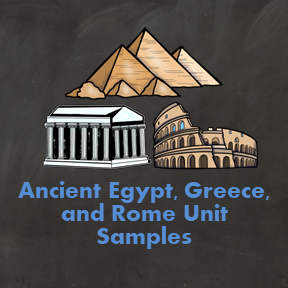 Anicent Egypt, Greece, and Rome Unit Samples