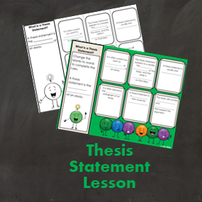 Writing a Thesis Statement Lesson