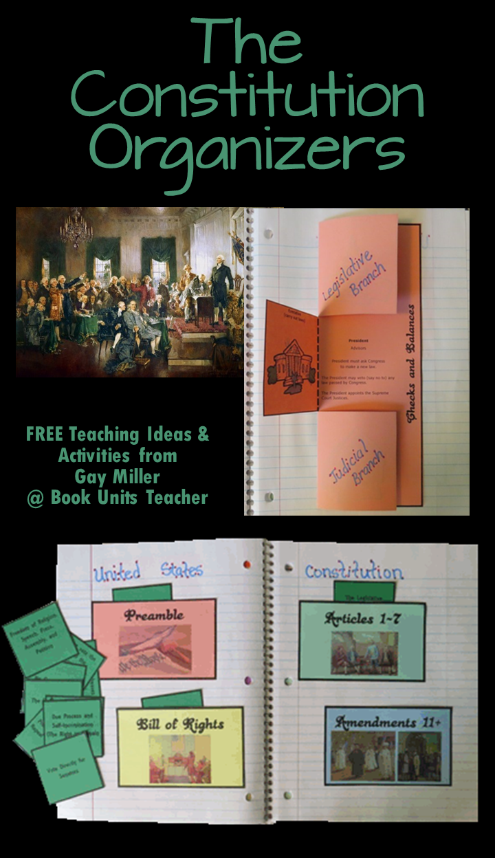 Grab these free organizers to use with your Constitution unit.