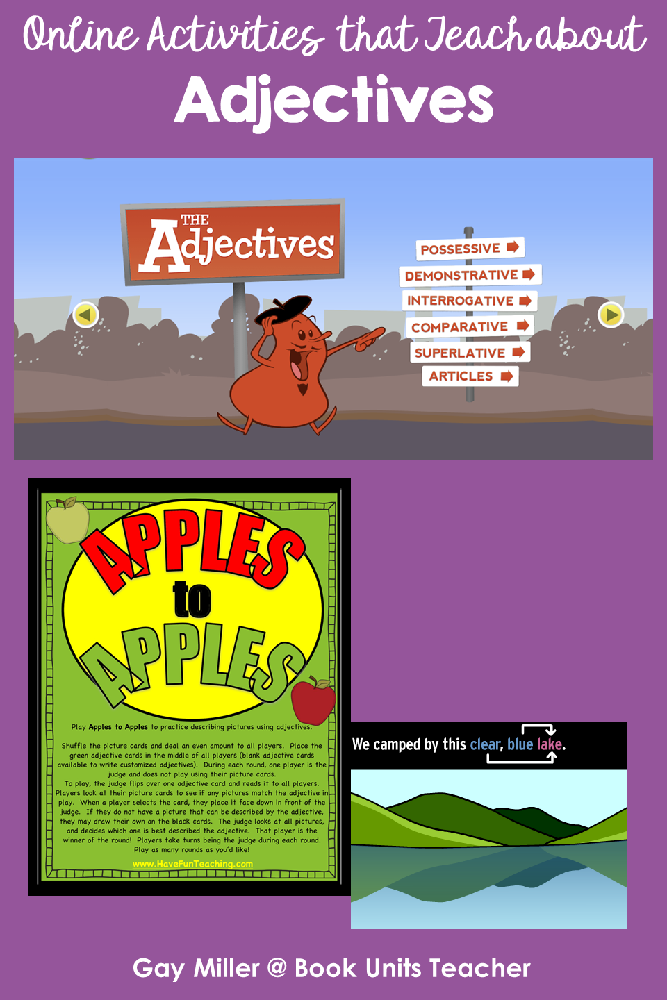 Adjectives - Activites on the Web