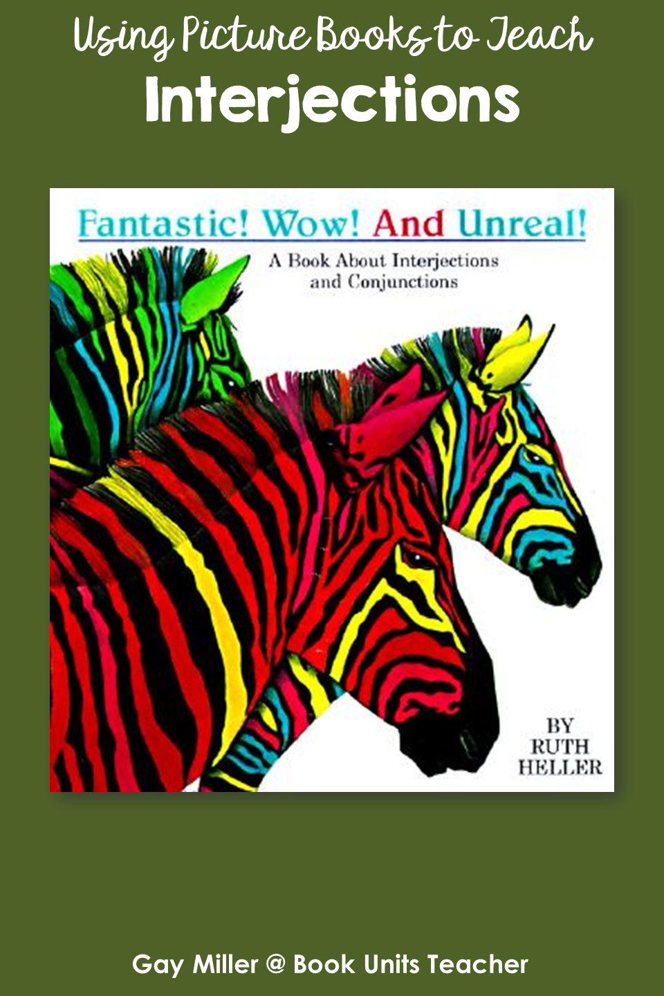 Interjections - Picture Books that Help Teach Parts of Speech