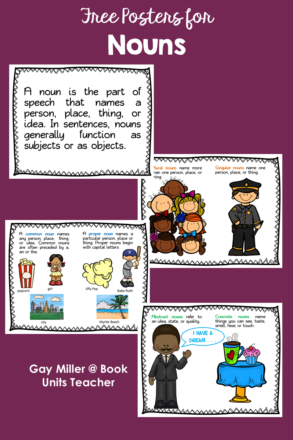 Posters to Help Teach Parts of Speech Rules