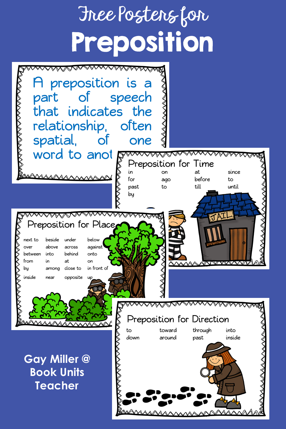 Prepositions Posters to Help Teach Parts of Speech Rules