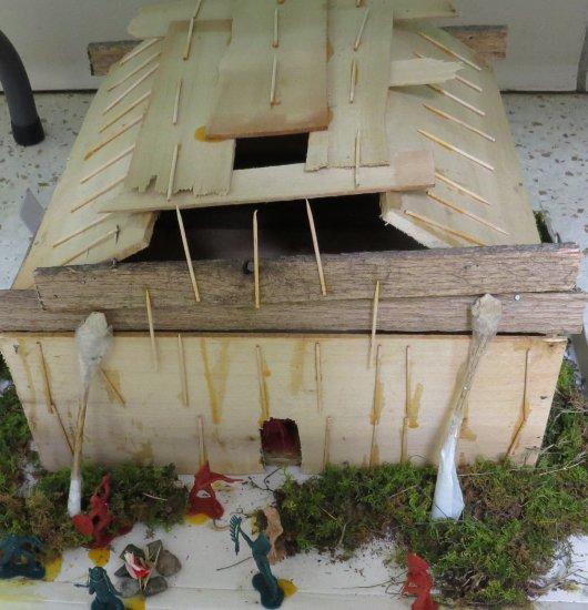 Northwest Coastal Indians Plank Home Diorama