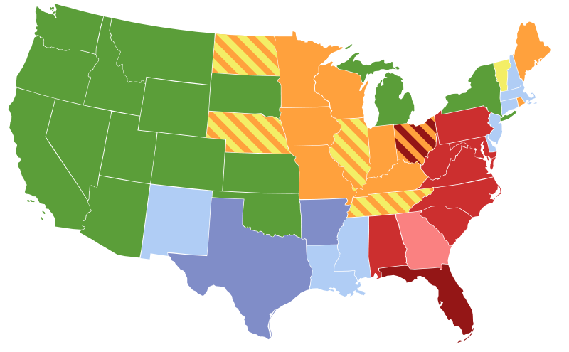 Map of Women's Suffrage Laws