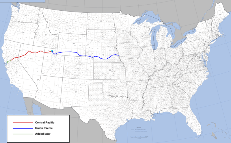 Route of the Transcontinental Railroad