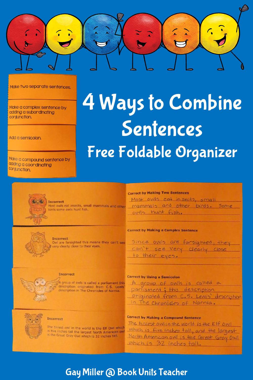 4 Ways to Combine Sentences