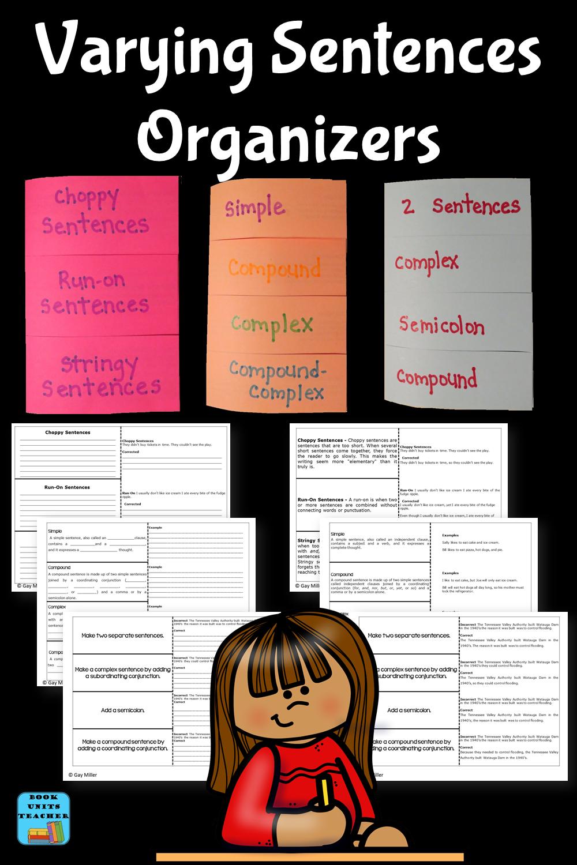 Varying Sentences Organizers