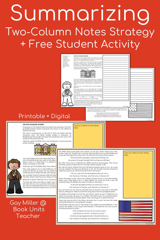 Summarizing Strategies - How to Write a Summary Free Teaching Materials