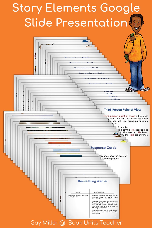 Free 81 Slides Google Slide Presentation on Story Elements