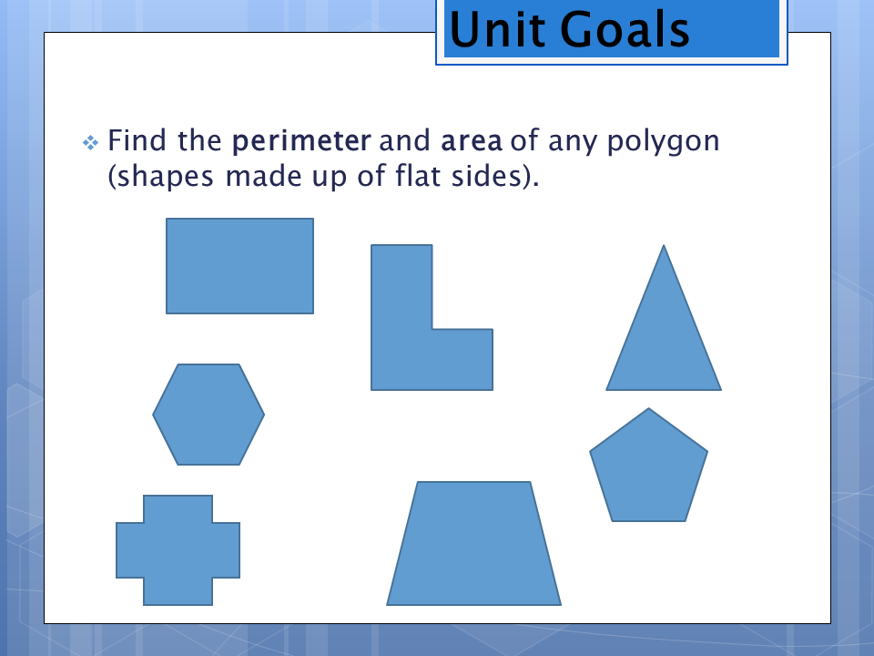 Free PowerPoint for Perimeter, Area, and Volume