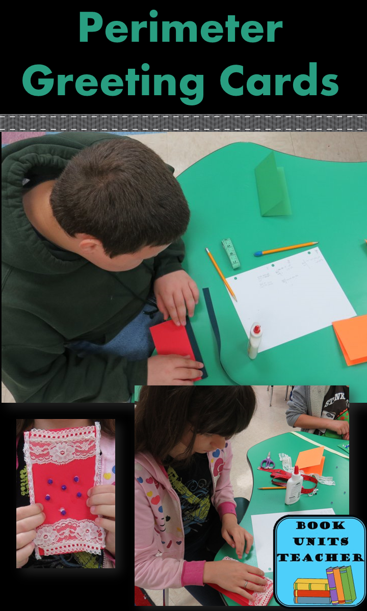 Perimeter Greeting Cards Project ~ This is a fun way for students to study perimeter in a real world application.
