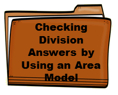 Checking Division Answers by Using an Area Model
