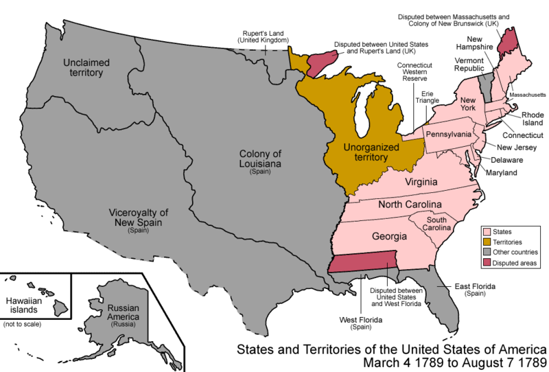 US Map 1789
