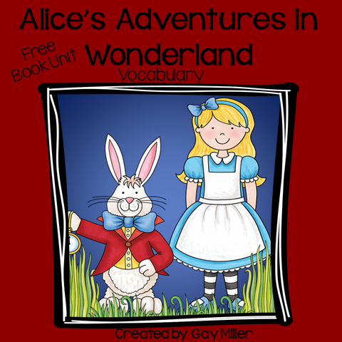 Free Book Unit for Alice's Adventure in Wonderland - Part 1 Vocabulary