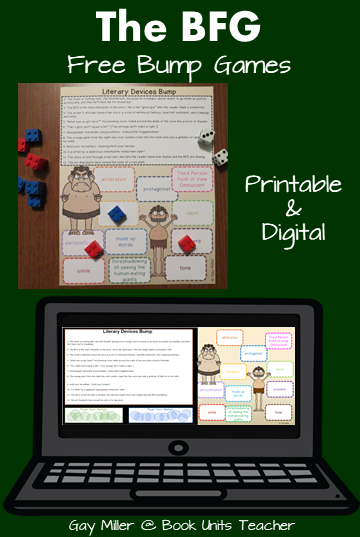 Three Free Printable and Digital Bump Games to Use with The BFG