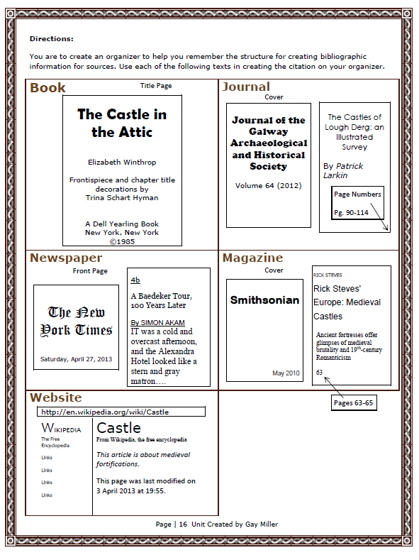 Free Lesson Creating a Bibliography