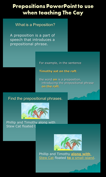 Prepositions PowerPoint to use when Teaching The Cay