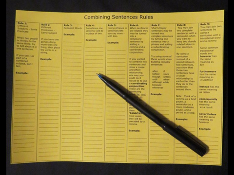 Combining Sentence Rules Organizer