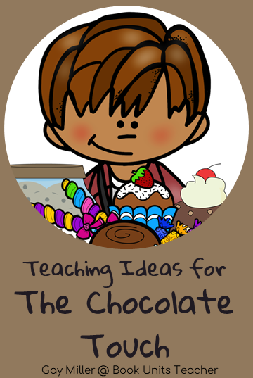 The Chocolate Touch by Patrick Skene Catling Teaching Ideas - Grab a free vocabulary, comprehension questions, and constructed writing prompts which is great for upper elementary including 3rd, 4th, and 5th graders.