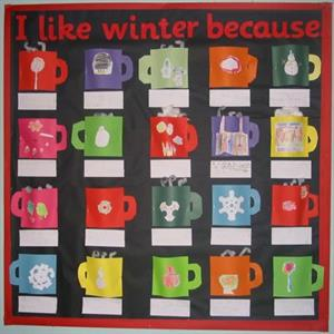 Hot Cocoa Bulletin Board Idea