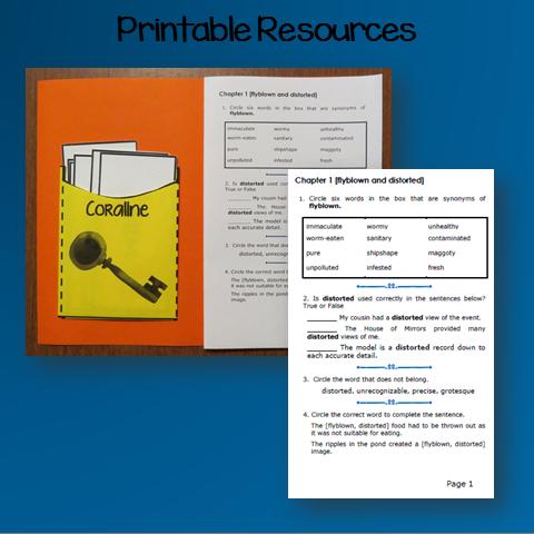 Coraline By Neil Gaiman Activities Book Units Teacher
