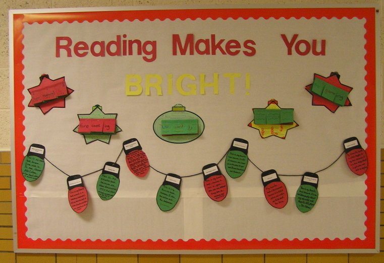 Reading Makes You Bright Bulletin Board