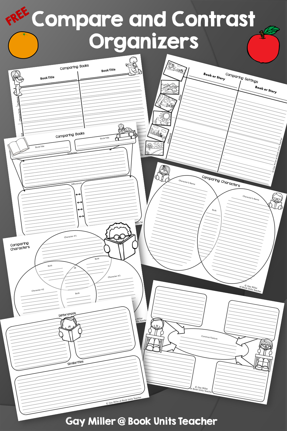 Free Compare and Contrast Organizers