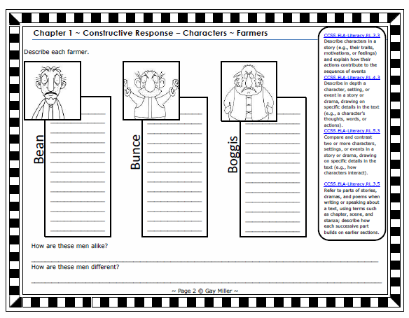 Fantastic Mr Fox Worksheets - Mmosguides