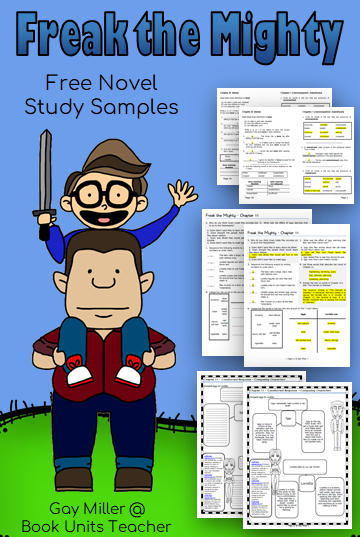 Free Novel Study Samples from Freak the Mighty