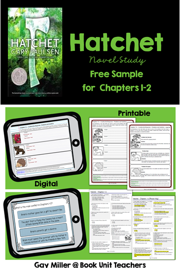Get a free sample of Hatchet Novel Study